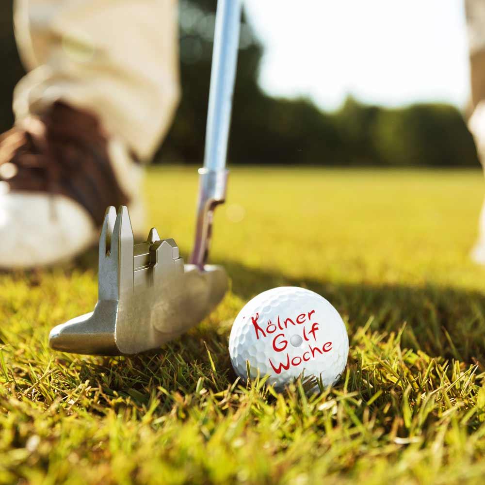 Golfschläger mit Kölner Dom